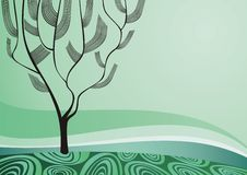 Nature theme background. Drawing Stock Images