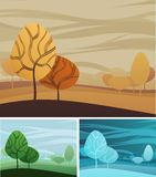 Nature theme background. Creative nature theme background  with three color variations Stock Images