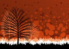 Nature theme background. Vector drawing is 2d Royalty Free Stock Photography
