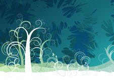 Nature theme background. Vector is 2d Royalty Free Stock Image