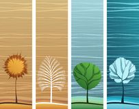 Nature theme banners. Four different design nature theme banners Stock Photos