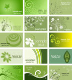 Nature themed business cards. Large collection of business cards with a nature theme Stock Photography