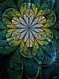 Nature themed fractal flower Stock Images
