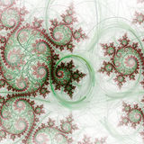 Nature themed fractal spirals Royalty Free Stock Photo