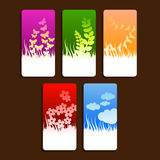 Nature themed tags Stock Images