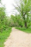 Nature trail. Cedar Valley Nature Trail Cedar Rapids Iowa Royalty Free Stock Photos