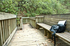 Nature Trail/Bench/Camera Royalty Free Stock Photography