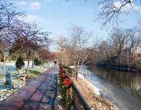 Nature Trail in Chagrin Falls. Ohio in the Winter stock photo