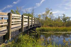 Nature Trail Foot Bridge Royalty Free Stock Photos