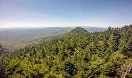 Nature trail scenes to calloway peak north carolina Stock Image