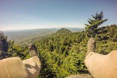Nature trail scenes to calloway peak north carolina Stock Photos