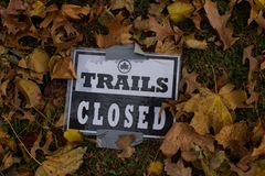 Nature trail sign Royalty Free Stock Image