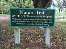 Nature trail Sign Stock Photography
