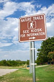 Nature trail sign Stock Images