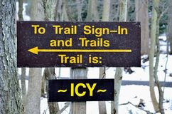 Nature Trail Sign Warning Royalty Free Stock Image