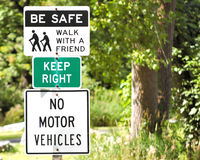 Nature Trail Signs Stock Images