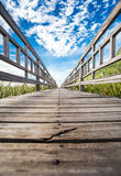 The Nature Trail Wooden Bridge. Royalty Free Stock Image