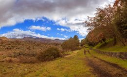 Mount Etna hiking royalty free stock image