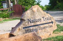 Nature trails marker Royalty Free Stock Images