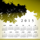 A 2015 Nature and Tree Calendar Stock Photography