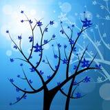 Nature Tree Represents Light Burst And Blazing Royalty Free Stock Photo