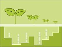 Nature tree symbol and city illustration Stock Photography