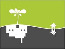 Nature tree symbol and city illustration Royalty Free Stock Photo