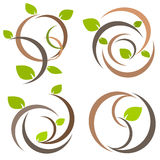Nature tree symbol illustration Royalty Free Stock Images