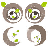 Nature tree symbol illustration Stock Photography