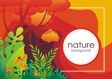 Nature tropical Background with stylish abstract design. Nature tropical stylish abstract Background design, with colorful tropical jungle theme, leaf, grass stock illustration