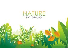 Nature tropical Background with stylish abstract design