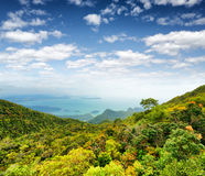 Tropical landscape. Mountains and sea Royalty Free Stock Images