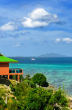 Tropical resort. Red sea view house Stock Images