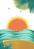 Nature tropical seascape background with sunlight  Stock Photography