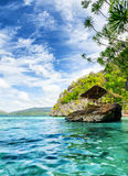 Tropical seashore. Palawan province, Philippines Royalty Free Stock Photo