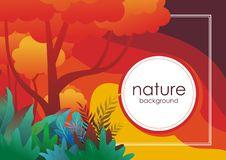 Nature tropical Background with stylish abstract design. Nature tropical stylish abstract Background design, with colorful tropical jungle theme, leaf, grass vector illustration