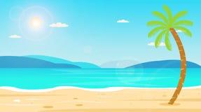 Nature tropicale de loisirs de vacances de vacances de voyage de plage Images libres de droits
