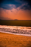 Nature in twilight period, Sunrise or Sunset over the sea with beach Stock Images