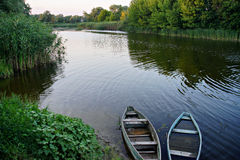 Nature of Ukraine. Horol river near Myrgorod city, Ukraine stock photography