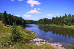 Nature of the Ural River Chusovaya. In the Perm region Royalty Free Stock Images