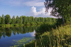 Nature of the Ural River Chusovaya. In the Perm region Royalty Free Stock Photos