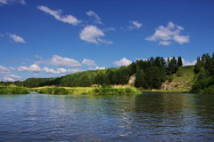 Nature of the Ural River Chusovaya. In the Perm region, Russia Royalty Free Stock Images