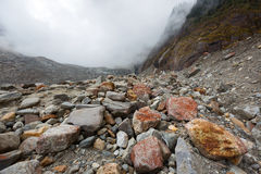 Nature Valley rubble. China Tibet Plateau, the natural valley of rubble Stock Photos