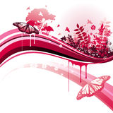 Nature vector background. And illustration composition royalty free illustration