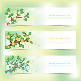 Nature vector banners Stock Images