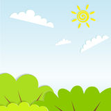 Nature vector illustration Royalty Free Stock Photography