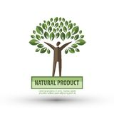 Nature vector logo design template. ecology or bio Stock Photos