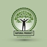 Nature vector logo design template. ecology or bio Royalty Free Stock Image