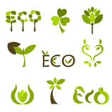 Nature vector symbols or logos Stock Images