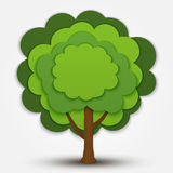 Nature vector tree Royalty Free Stock Photography